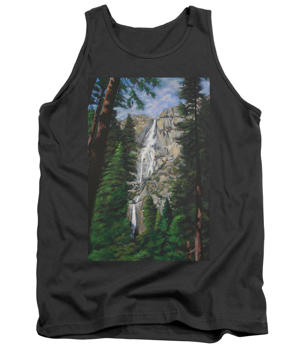Landscape Tank Top featuring the painting Yosemite Falls by Travis Day