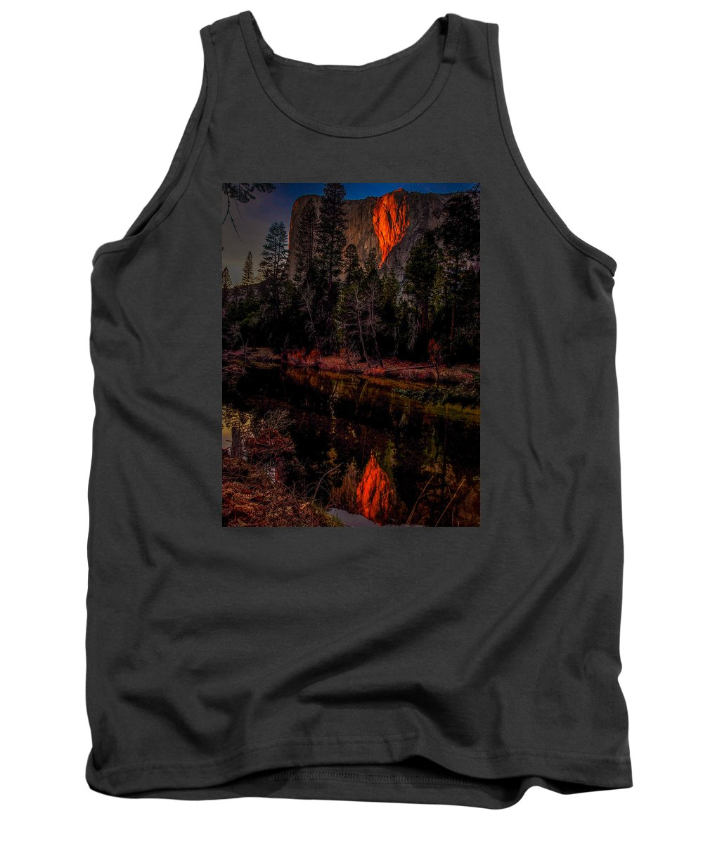 Horsetail Falls Tank Top featuring the photograph Yosemite Firefall 2015 by Michele James