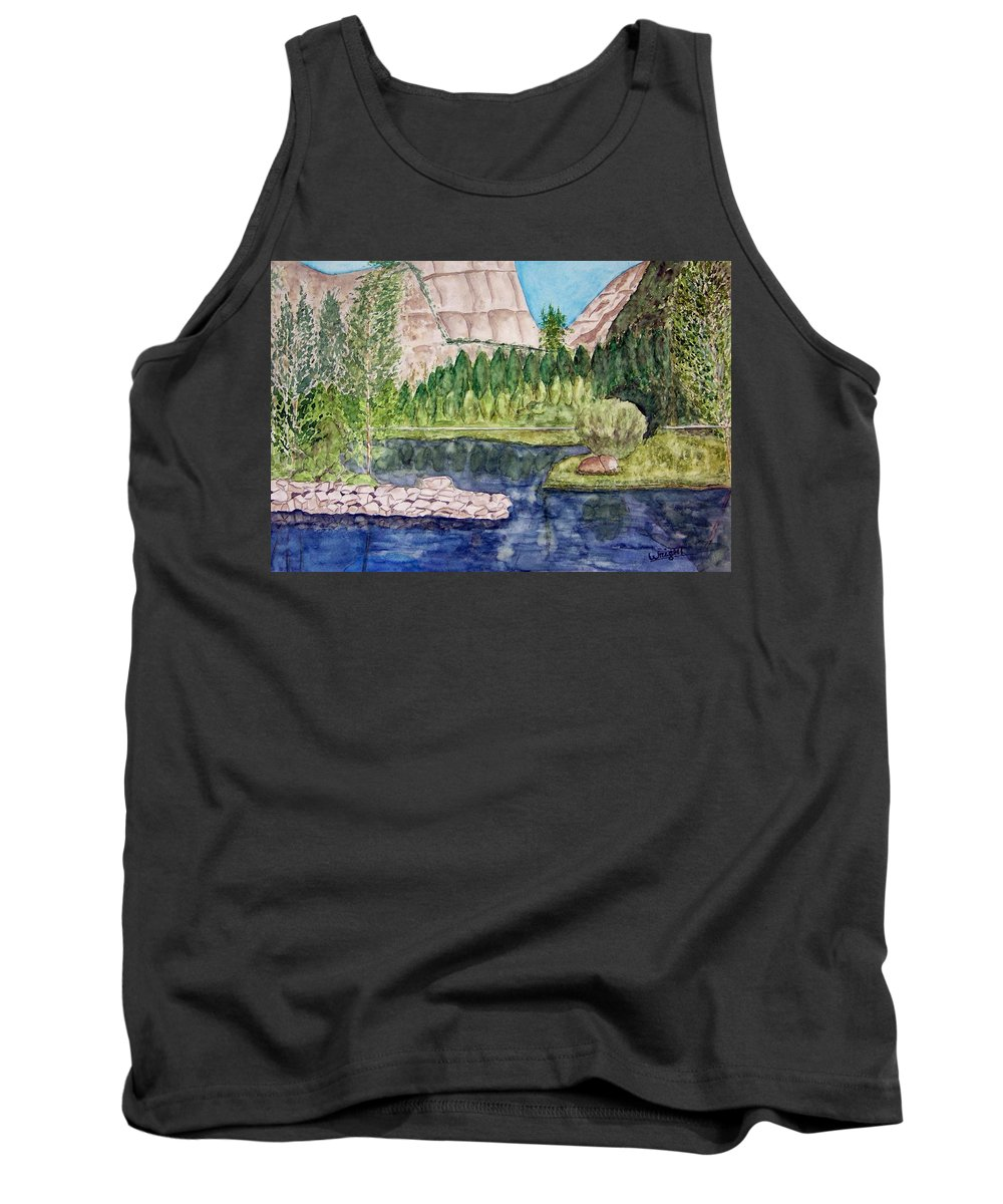 Yosemite National Park Tank Top featuring the painting Yosemite by Larry Wright