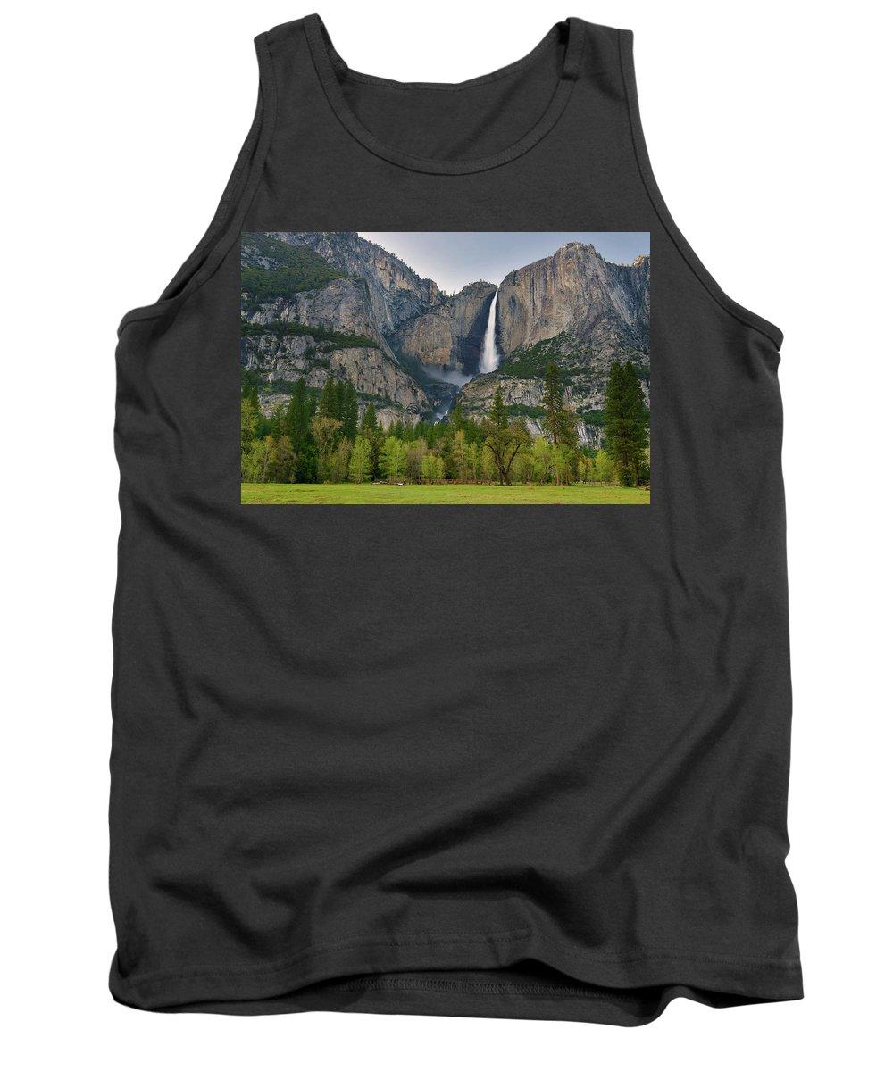 Yosemite Falls Tank Top featuring the photograph Yosemite Upper And Lower Falls by Surjanto Suradji