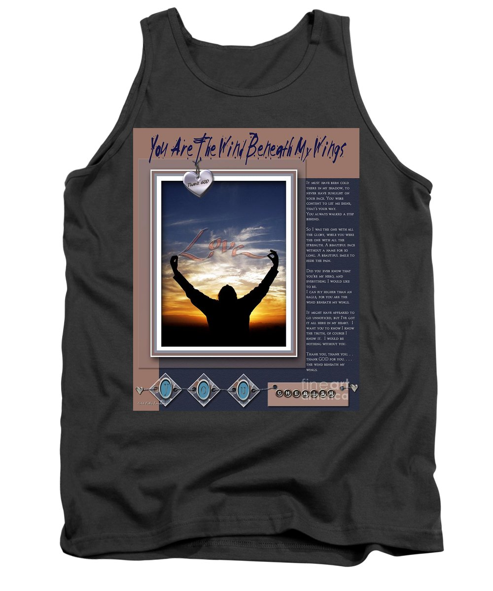 Wind Beneath My Wings Tank Top featuring the digital art You Are The Wind Beneath My Wings by Kathy Tarochione