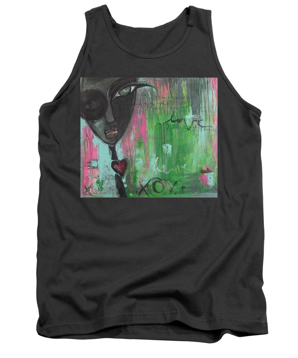 Figurative Tank Top featuring the painting You Cant Ask For More by Laurie Maves ART