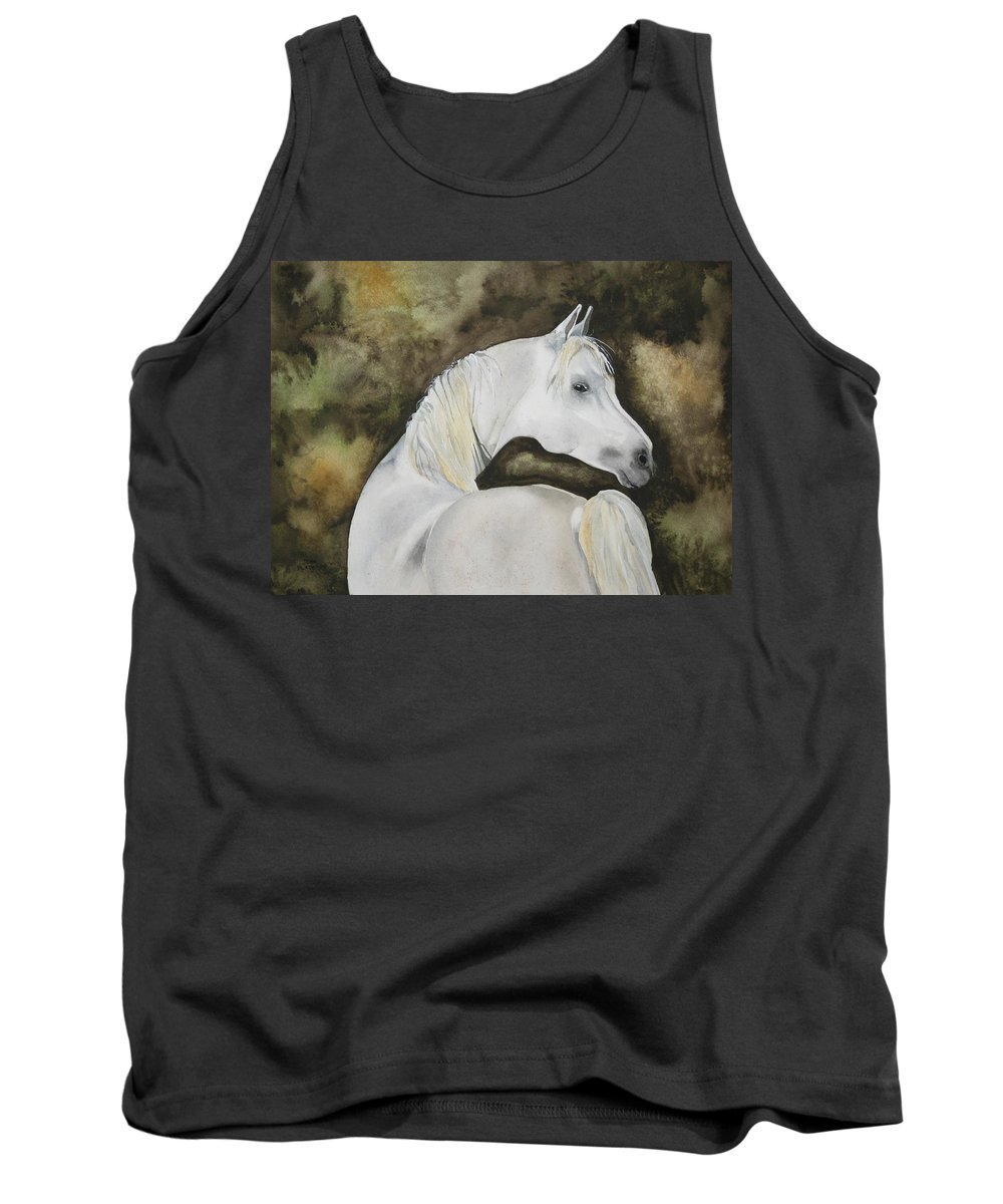 Horse Tank Top featuring the painting You Talking To Me by Jean Blackmer