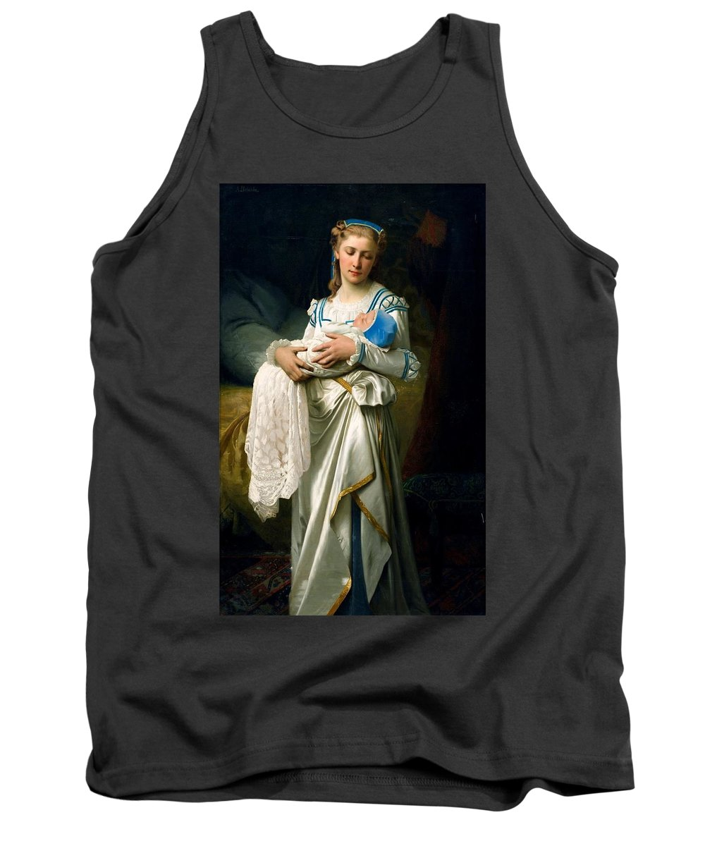 Young Lady And The Baby By Ignace Spiridon Tank Top featuring the painting Young Lady And The Baby by Ignace Spiridon