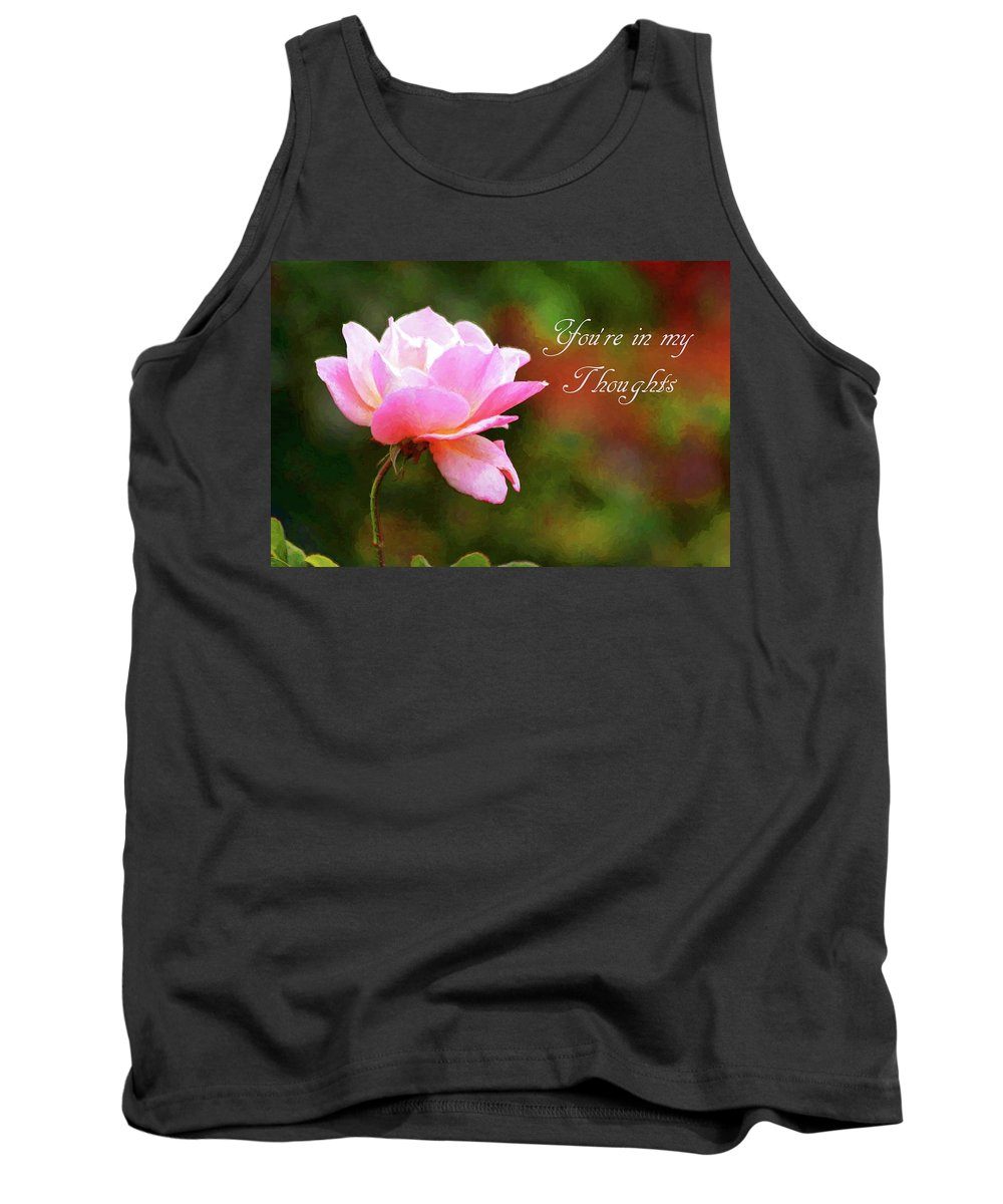Carol R Montoya Tank Top featuring the photograph Your In My Thoughts Painting by Carol Montoya
