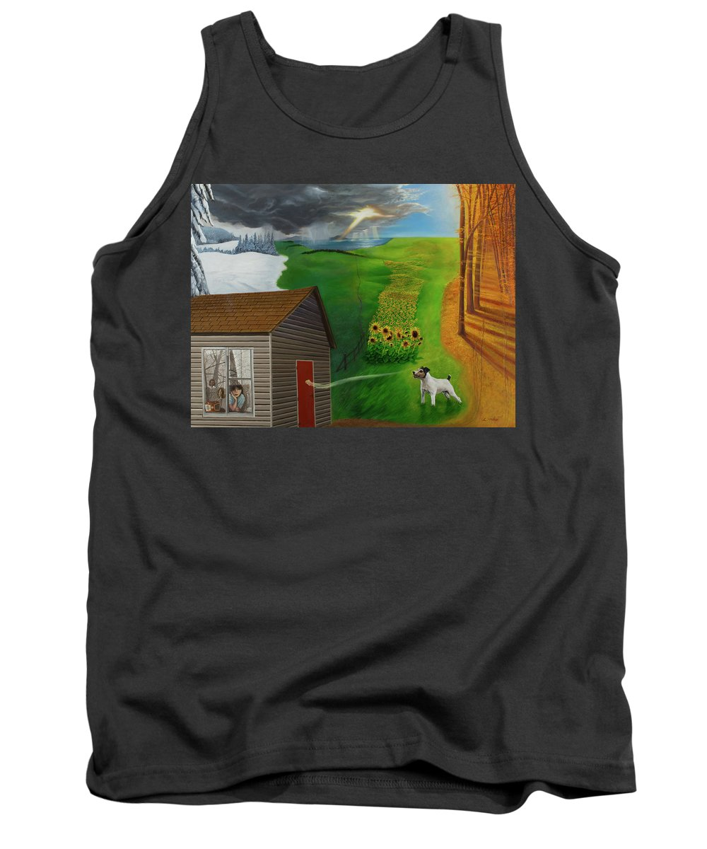 Winter Tank Top featuring the painting You've Got A Friend by Loretta McNair