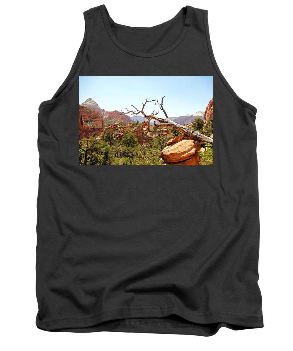 Zion Tank Top featuring the photograph Zion Hike 1 View 4 by Robert Meyers-Lussier