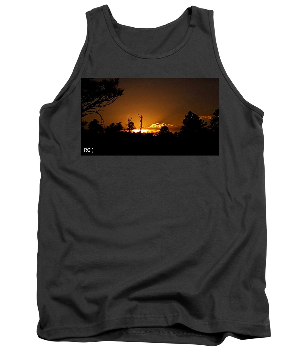 Landscape/ Sunrise Tank Top featuring the photograph Zuni Mountain Gold by Rudy Gallegos