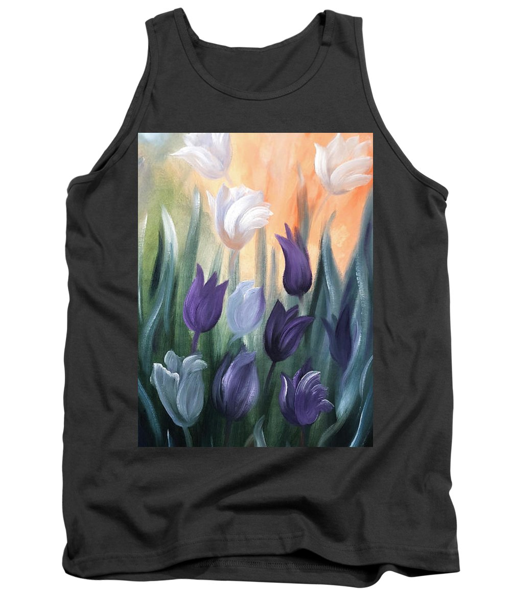 Tulip Tank Top featuring the painting Tulips by Gina De Gorna
