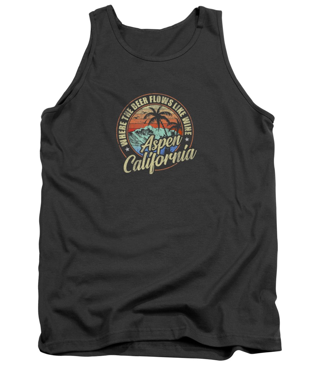 men's Novelty T-shirts Tank Top featuring the digital art Aspen California Where The Beer Flows Like Wine Tshirt by Do David
