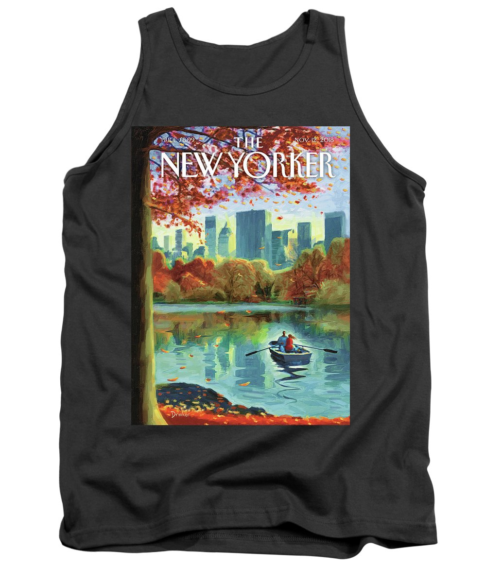 Autumn Central Park Tank Top featuring the drawing Autumn Central Park by Eric Drooker