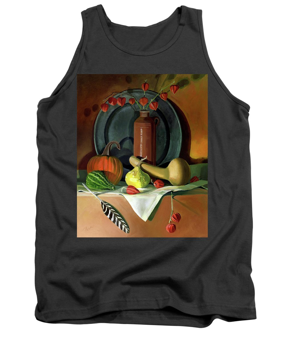 Still Life Tank Top featuring the painting Autumn Still Life by Nancy Griswold