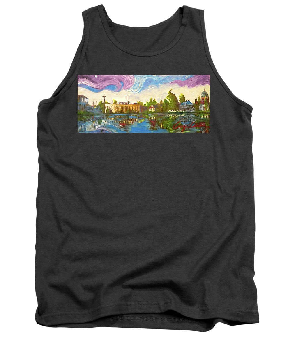 Bayou Saint John Tank Top featuring the painting Bayou Saint John One by Amzie Adams