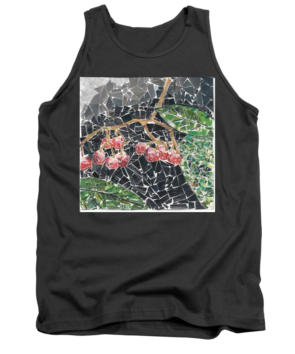 Berries Tank Top featuring the mixed media Berries by Karla Clark