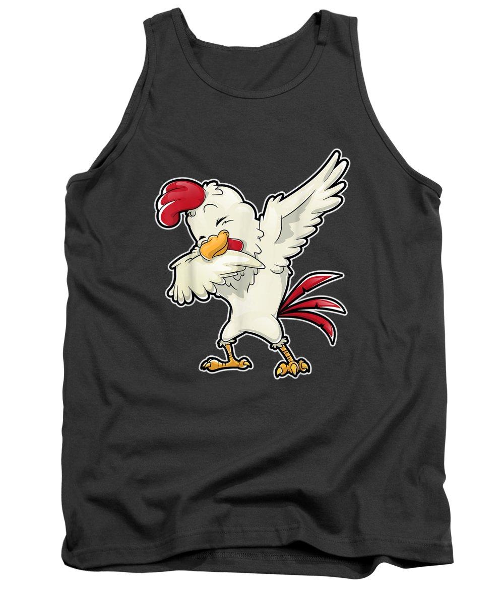 Chicken Dance Digital Art Tank Tops