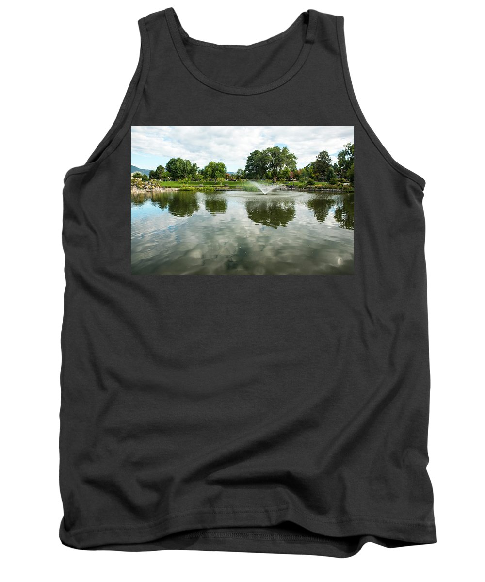 Clouds On Ashley Pond Tank Top featuring the photograph Clouds On Ashley Pond by Tom Cochran