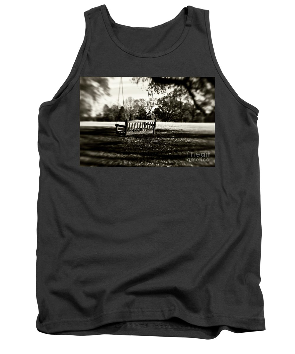 Swing Tank Top featuring the photograph Country Swing by Scott Pellegrin