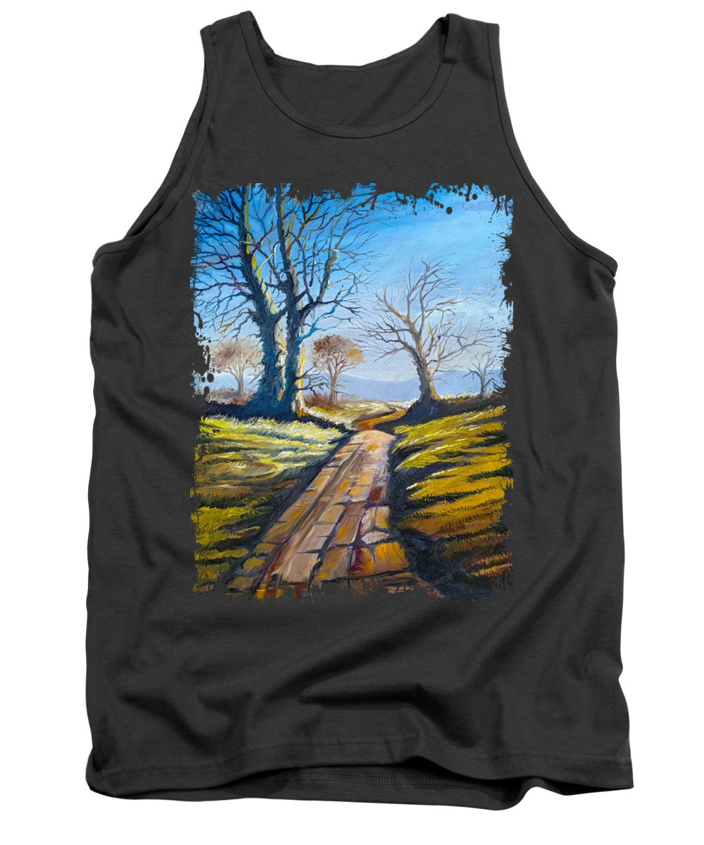 Tree Tank Top featuring the painting Deciduous Trees by Anthony Mwangi