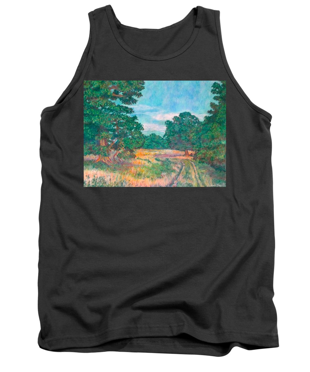 Landscape Tank Top featuring the painting Dirt Road Near Rock Castle Gorge by Kendall Kessler