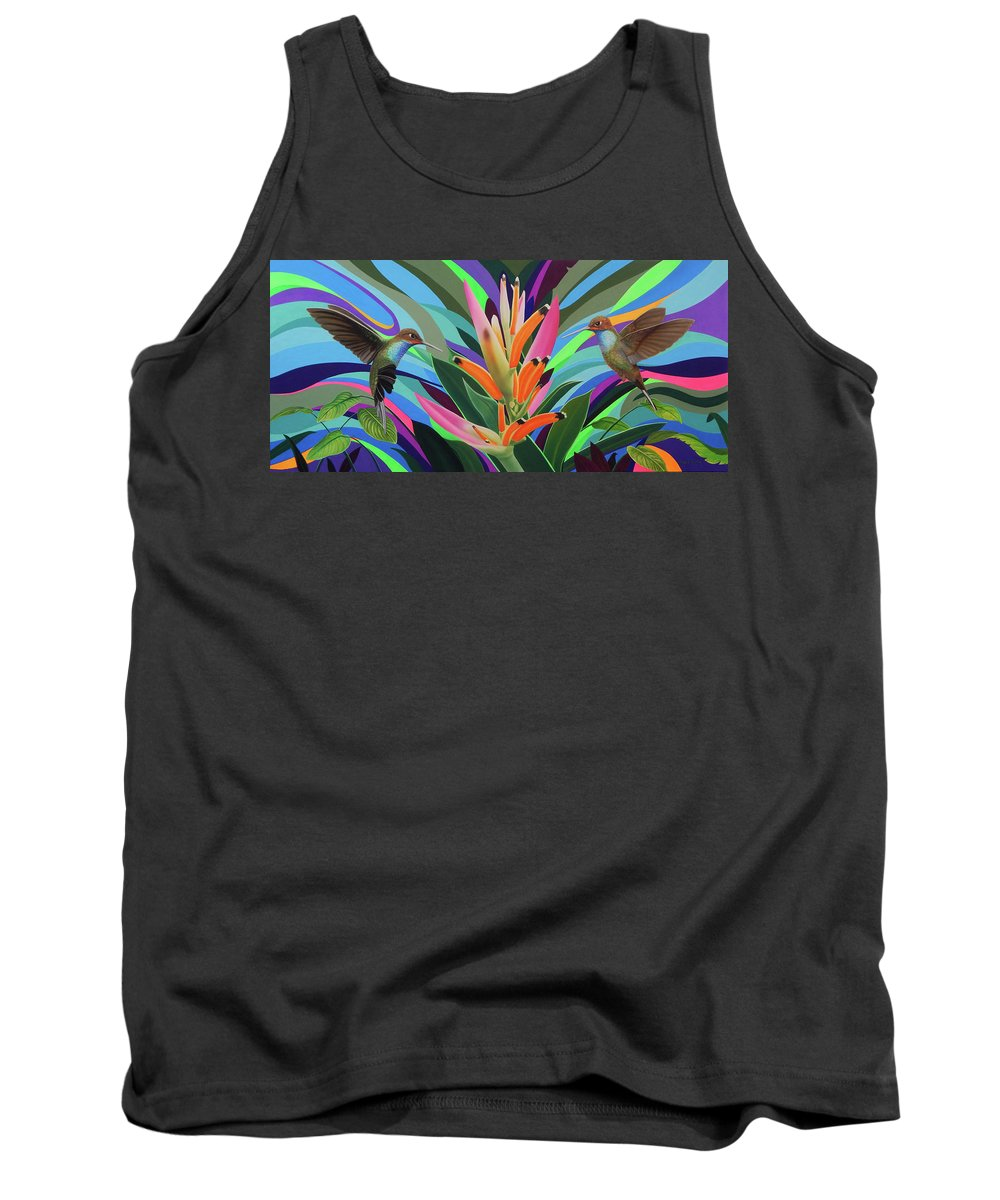 Hummingbird Tank Top featuring the painting Dream messenger 2 by Angel Ortiz