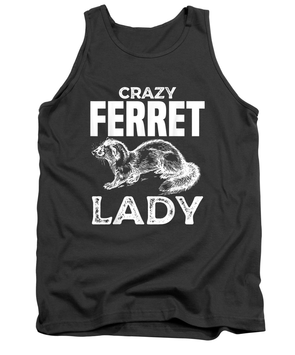 men's Novelty T-shirts Tank Top featuring the digital art Ferret Mom Tshirt Funny For Owner Women Girls Kid Gift Tee by Unique Tees