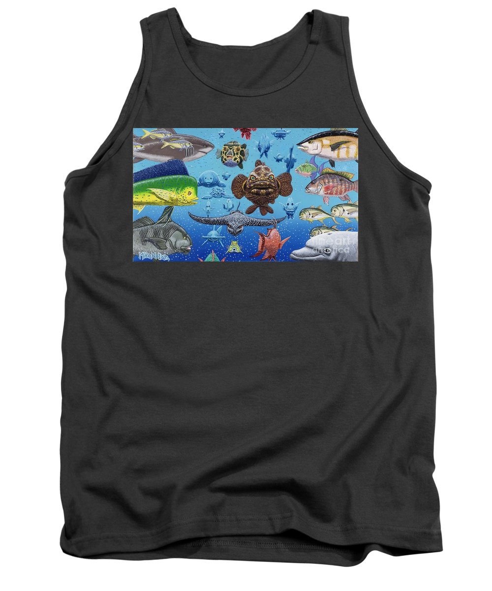 Wildlife Tank Top featuring the painting Florida Traffic by Mike Nolan