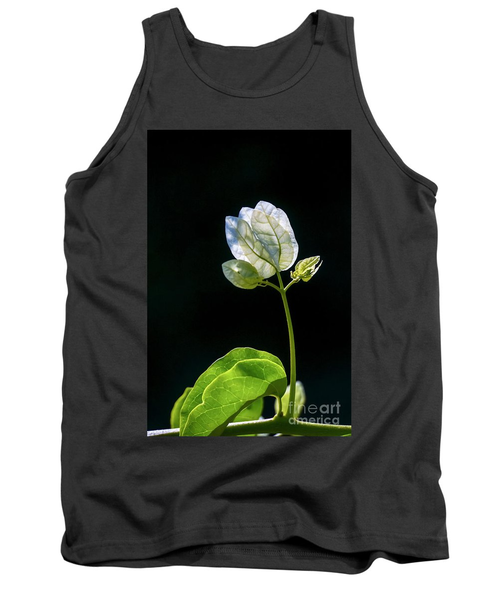 Flowering Tank Top featuring the photograph flowers of a Bougainvillea w4 by Vladi Alon
