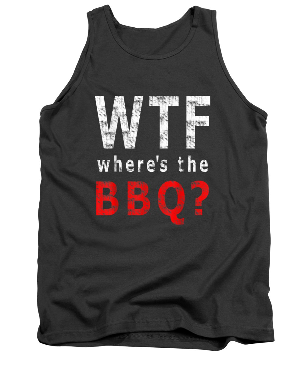 men's Novelty T-shirts Tank Top featuring the digital art Funny Bbq Lover Fan Gift T-shirt - Where's The by Do David