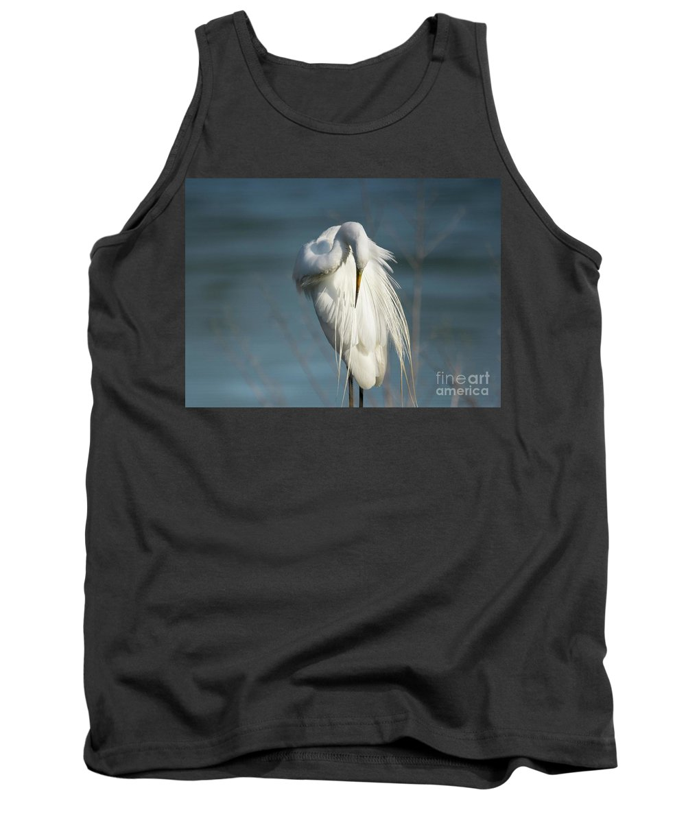 Great Egret Tank Top featuring the photograph Great Egret by DiFigiano Photography
