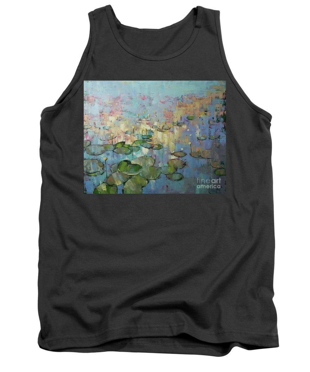 Water Tank Top featuring the painting Having Glanced Once by Anastasija Kraineva
