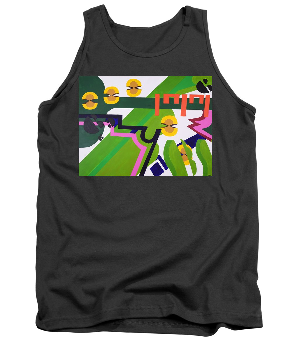 Synesthesia Tank Top featuring the painting Hey Ya by Elizabeth Beach