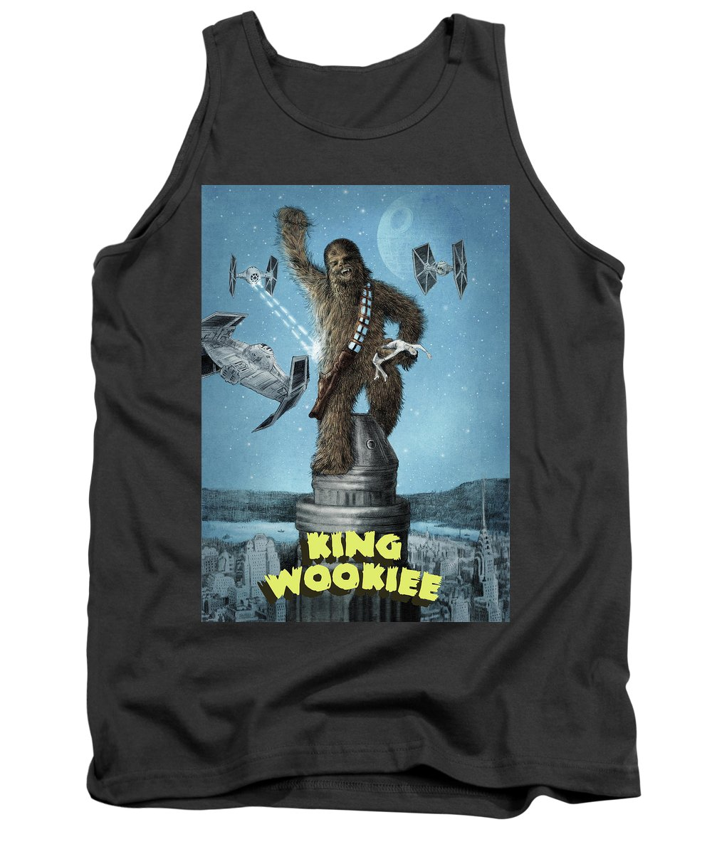 King Kong Tank Top featuring the drawing King Wookiee by Eric Fan