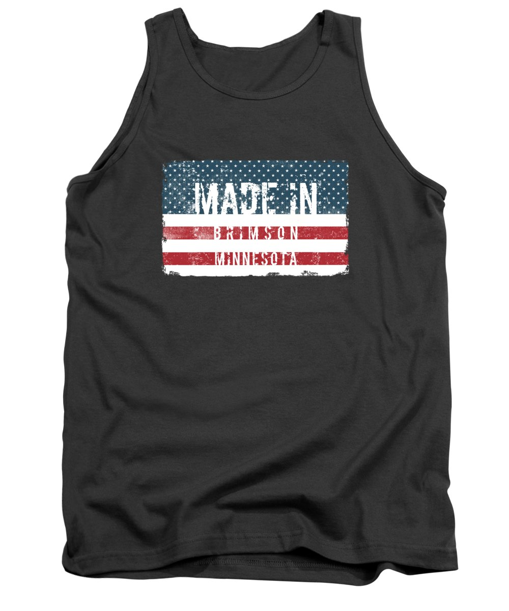 Brimson Tank Top featuring the digital art Made In Brimson, Minnesota by Tinto Designs