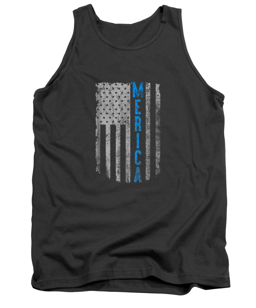 girls' Novelty Clothing Tank Top featuring the digital art 'merica American Flag Vintage Men Women Gift 2018 T-shirt by Unique Tees