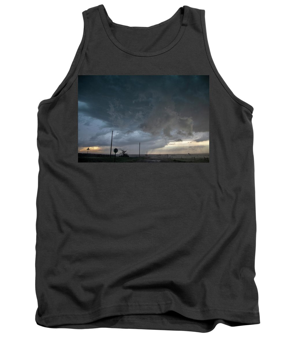 Nebraskasc Tank Top featuring the photograph Moderate Risk Bust Chase Day 017 by NebraskaSC