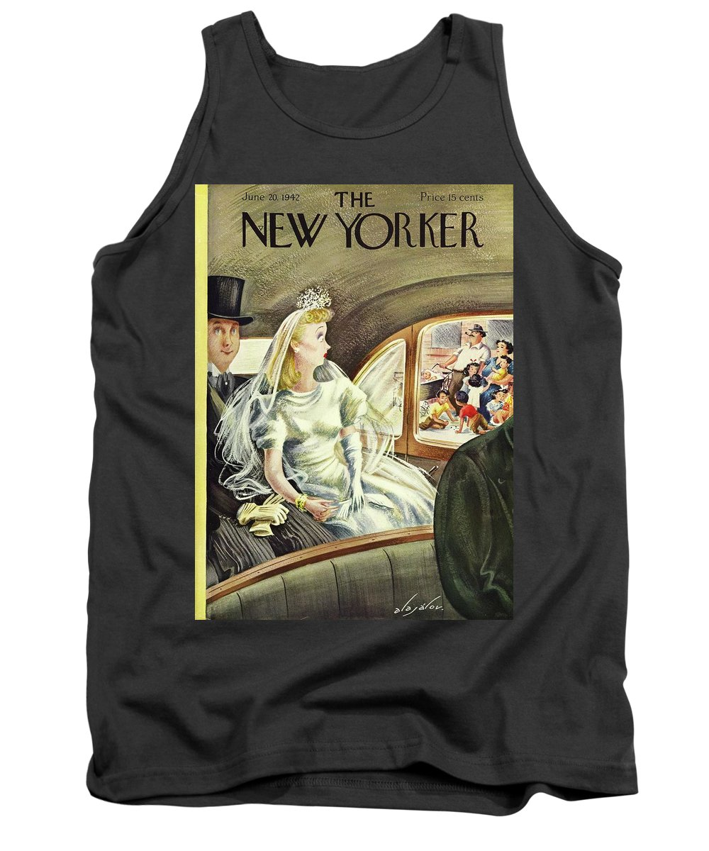 Illustration Tank Top featuring the painting New Yorker June 20th 1942 by Constantin Alajalov