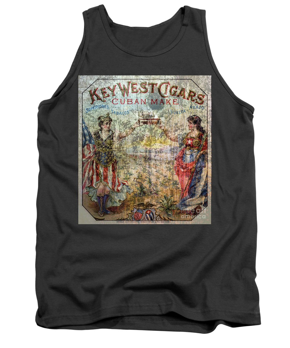 Cigar Tank Top featuring the photograph Old Key West Cigars Advertisment by Jon Neidert