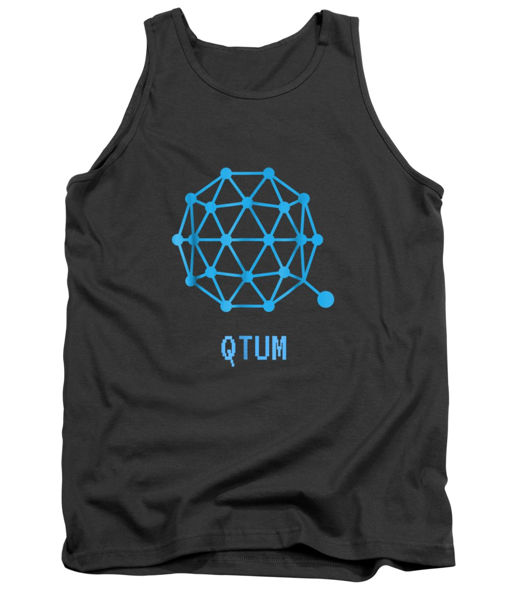 men's Novelty T-shirts Tank Top featuring the digital art Qtum Cryptocurrency Crypto Tee Shirt by Unique Tees