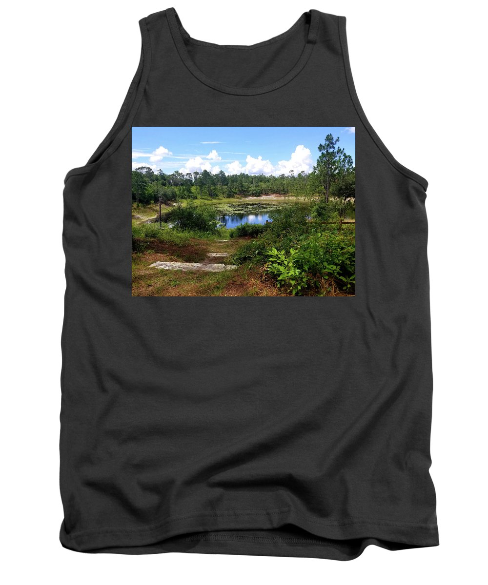 Lake Tank Top featuring the photograph Reflection On The Lake by Nick Gawriluk
