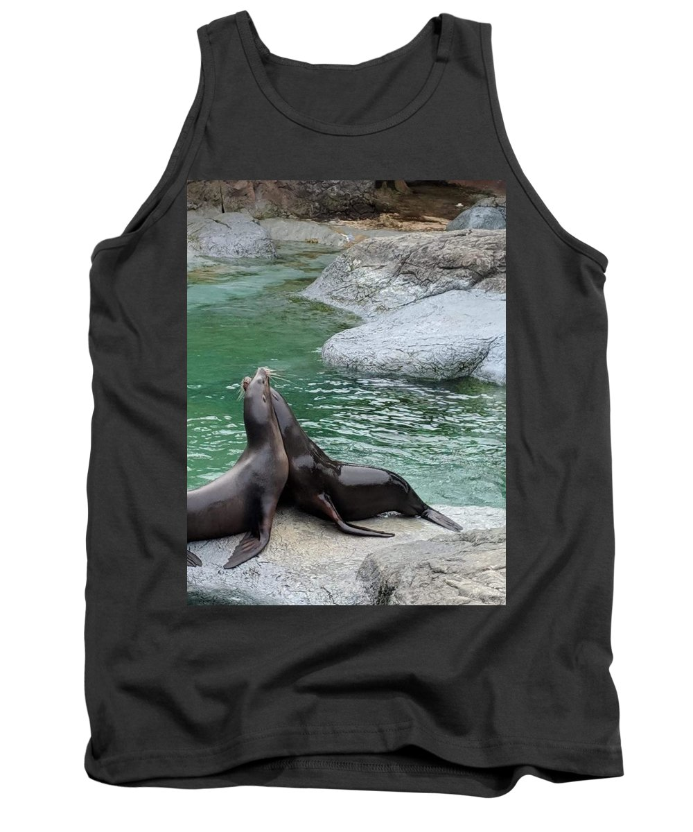 Blue Tank Top featuring the photograph Seal by Aswini Moraikat Surendran
