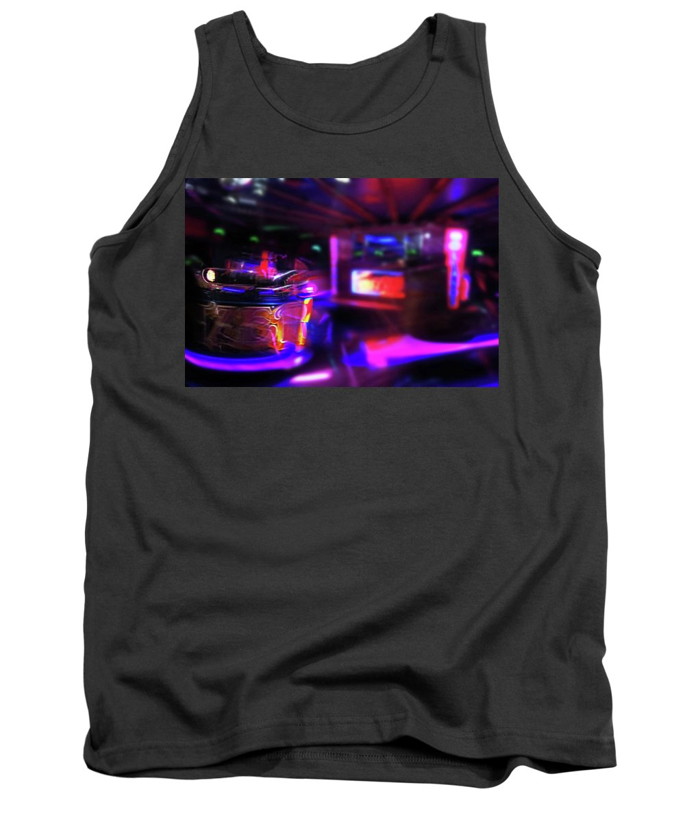 Speeding Waltzers Tank Top featuring the painting Speed by Charles Stuart