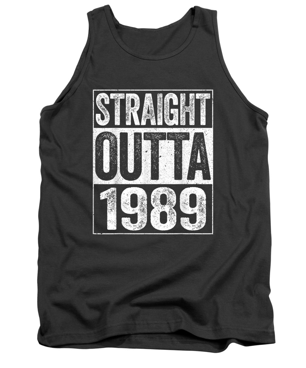 men's Novelty T-shirts Tank Top featuring the digital art Straight Outta 1989 T-shirt 30th Birthday Gift Shirt by Do David