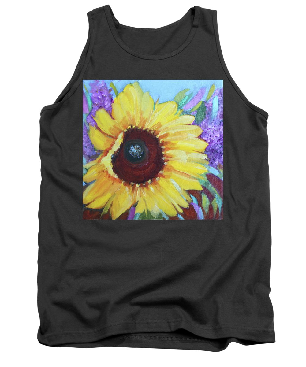 Sunflower Tank Top featuring the painting Sun Catcher by Christiane Kingsley