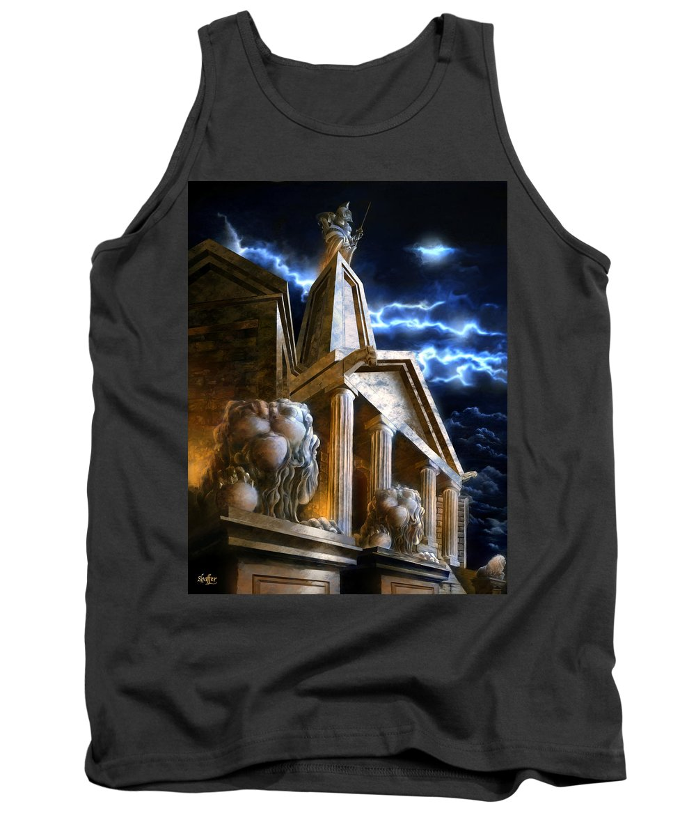 Hercules Tank Top featuring the mixed media Temple Of Hercules In Kassel by Curtiss Shaffer