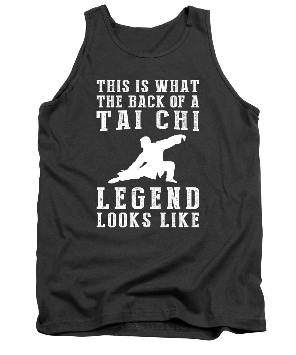 This Is Tank Top featuring the digital art This Is What The Back Of A Tai-chi Legend Looks Like by Do David