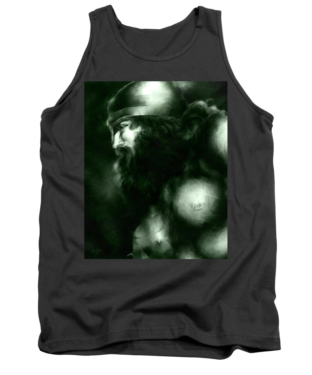 Thor Tank Top featuring the mixed media Thor by Curtiss Shaffer