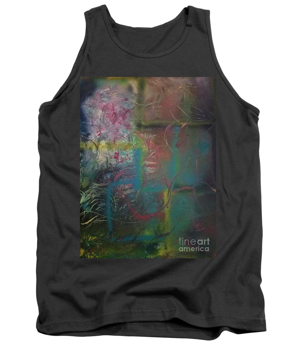 Abstract Tank Top featuring the painting Trapped by Amanda Lenac