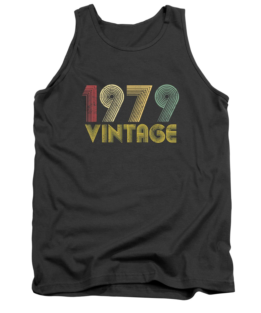 men's Novelty T-shirts Tank Top featuring the photograph Vintage 1979 40th Birthday Gift 40 Years Old Funny T-shirt by Unique Tees