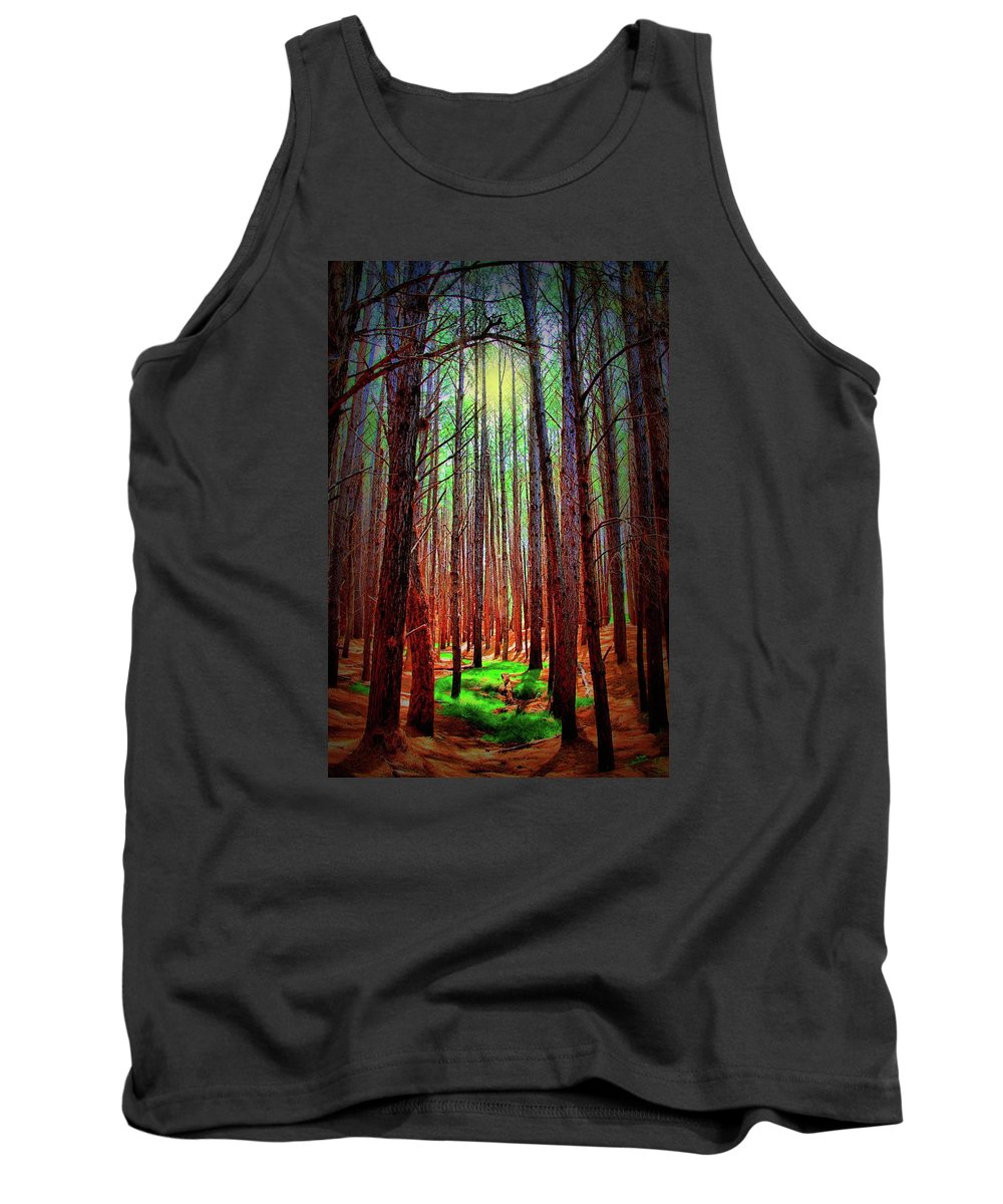 Forest Tank Top featuring the photograph Waihou Forest - Maui by DJ Florek