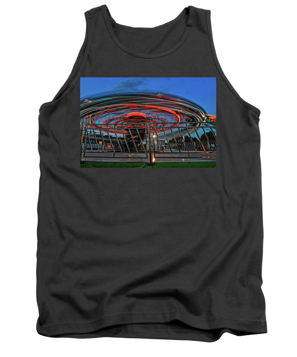 Bolton Fall Fair Tank Top featuring the photograph Whirling Into Fall 2 by Steve Harrington